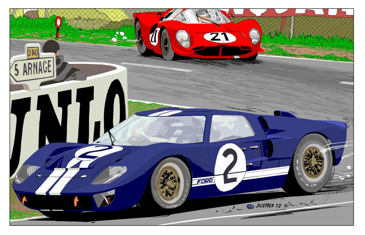 24 heures du mans 1966 ford avec sa gt40 met fin la. Black Bedroom Furniture Sets. Home Design Ideas